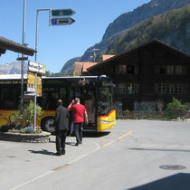 Busstation Iseltwald
