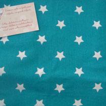 Etoiles 1,7cm fond turquoise
