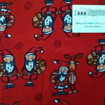 *Noël* Père Noël fond rouge