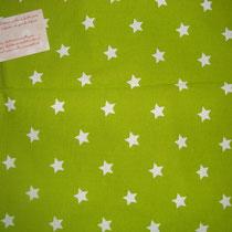 Etoiles 1,7cm fond vert pomme