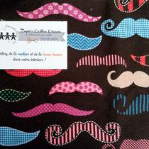 Moustaches fever bleu & mauve