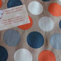 Pois Vintage bleu & orange