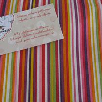 Rayure multicolores