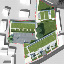 Habitat Participatif - Le COL - DOMAN - Billère - Plan masse projet