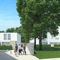 Habitat Participatif - Le COL - DOMAN - Billère - Vue intèrieure