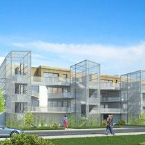 Habitat Participatif - Le COL - DOMAN - Billère - Vue depuis la rue Lassansâa