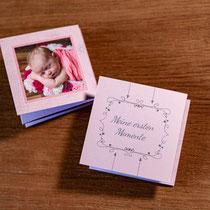 Dankeskarte, Geburtskarte, Leporello, Fotobuch, Mini leporello, besondere Karten, Baby, Geburt