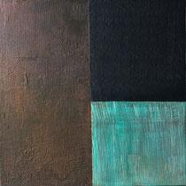 Materia, cm.93x93x4. cemento su pannello in legno
