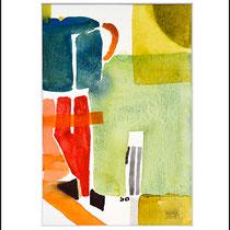 """""""Revues relues 4"""" - aquarelle sur papier Hahnemühle 30cmx20cm"""