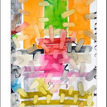 """""""Revues relues 16"""" - aquarelle sur papier Hahnemühle 50 cm x 40 cm"""