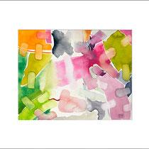 """""""Revues relues 15"""" - aquarelle sur papier Hahnemühle 30cmx24cm"""