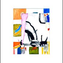 """""""Revues relues 1"""" - aquarelle sur papier Hahnemühle 30 cm x 24 cm"""