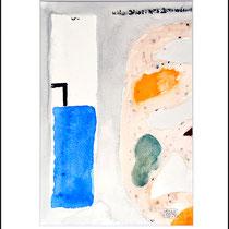 """""""Revues relues 6"""" - aquarelle sur papier Hahnemühle. 30cmx20cm"""