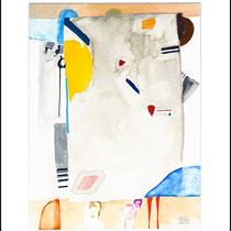 """""""Revues relues 2"""" - aquarelle sur papier Hahnemühle 30 cm x 40 cm"""
