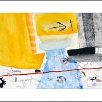 """""""Revues relues 9"""" - aquarelle sur papier Hahnemühle 40 cm x 30 cm"""