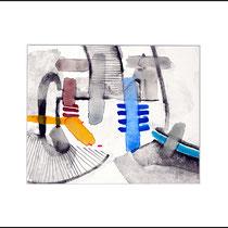 """""""Revues relues 7"""" - aquarelle sur papier Hahnemühle 30cmx24cm"""