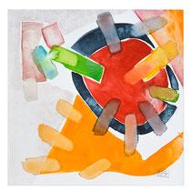 """""""Revues relues 11"""" - aquarelle sur papier Hahnemühle 30 cm x 30 cm"""
