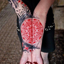 Xoil tatouage rouge