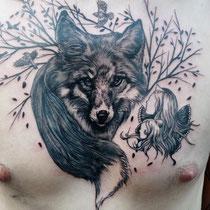 Jean-luc navette tatouage loup