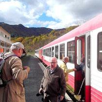 Ankunft auf dem Bahnhof in Axat