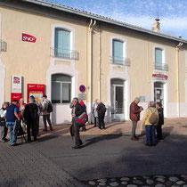 Ankunft am Bahnhof Rivesaltes