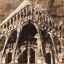 So stellte sich Gaudí die Passionsfassade vor (Museum)