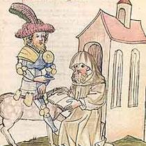 Parzival und der Einsiedler Trevrizent (Univ. Bibliothek Heidelberg)