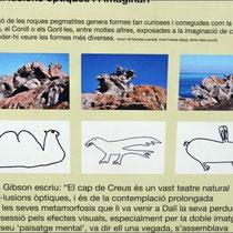 Einige der Naturskulpturen - nachgezeichnet