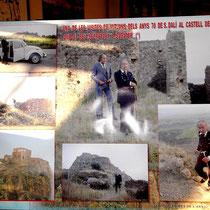 Besuche Dalis auf Quermançó Mitte der 70ziger Jahre mit seinem Sekretär Sabater