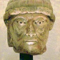 Petrus-Kopf des Meister von Cabestany vom ehemaligen Portal der Kirche des Klosters Sant pere de Rodes