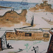Dalis Entwurf für die Häuser des Club Meditarranée
