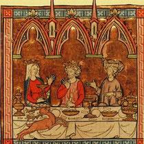 Mittelalterliches (königliches) Festmahl (unbekannte Quelle)