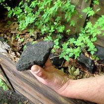 Ein Stück Kohle, das übrig blieb