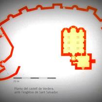 Plan Burg San Salvador ( nach: Guies Catalunya Romanica Comarcals, Portic, Barcelona 2000, S.135)