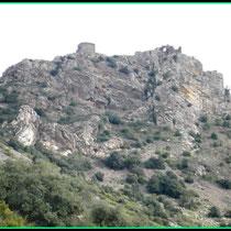 Blick von  Sant Onofré aus auf Sant Salvador de Verdera