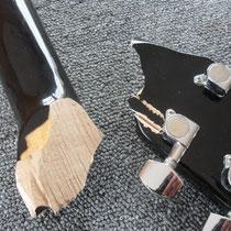 La fracture est relativement propre et la surface suffisante pour ne pas avoir à renforcer le collage.