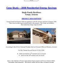 EnviroCoatings Cool Wall Energy Savings Case Study, Tempe, AZ Page 1