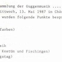 Gründungsprotokoll 1987