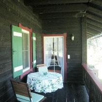 Balkon für Panoramafrühstück