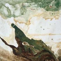 MAX WEILER, Naturdenkmal, 1977, Eitempera auf Leinwand, 100x100cm