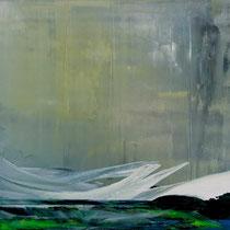 HUBERT SCHEIBL, Untiefen, Öl / Leinwand, 120x150cm, 2013/14