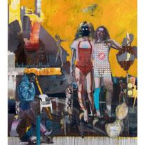 RAYK GÖTZE, The Abshaum, Acryl / Leinwand, 200x150cm, 2020