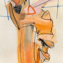JÜRGEN MESSENSEE, Odaliske, 1986, Öl und Farbkreide auf Leinwand, 200x140cm