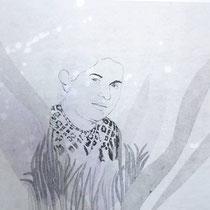 KARINA MENDRECZKY, Magda 5, Radierung, Hochdruck / Japanpapier, 50x70cm, 2020