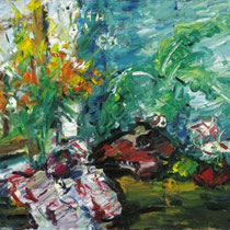 VIKTOR LEDERER, 2006, Stillleben aus dem Wiener Atelier, Öl auf Leinwand, 75x85cm