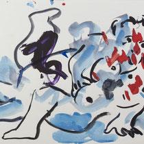OTTO MÜHL, o. T., 22.03.1985, Aquarell / Papier 31x440cm