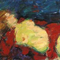 VIKTOR LEDERER, 2006, Liegender weiblicher Akt, Öl auf Leinwand, 80x100cm