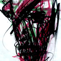 JASMIN FAUSTMANN, Trust, Kohle / Acryl 40x50cm