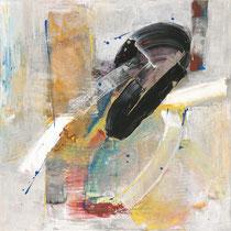 """SINASI BOZATLI, """"W.A.M. Salieri"""", Acryl auf Leinwand, 80x80cm, 2019"""