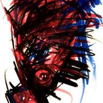 JASMIN FAUSTMANN, Fear Less, Kohle / Acryl, 40x50cm, 2020